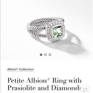 David Yurman Prasiolite with diamonds-petit Albion